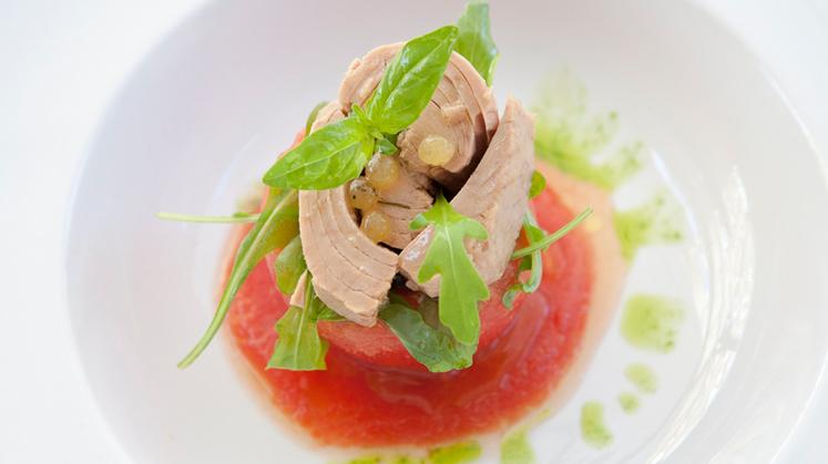 Tomates marinados al horno con Atún Conservera de Tarifa