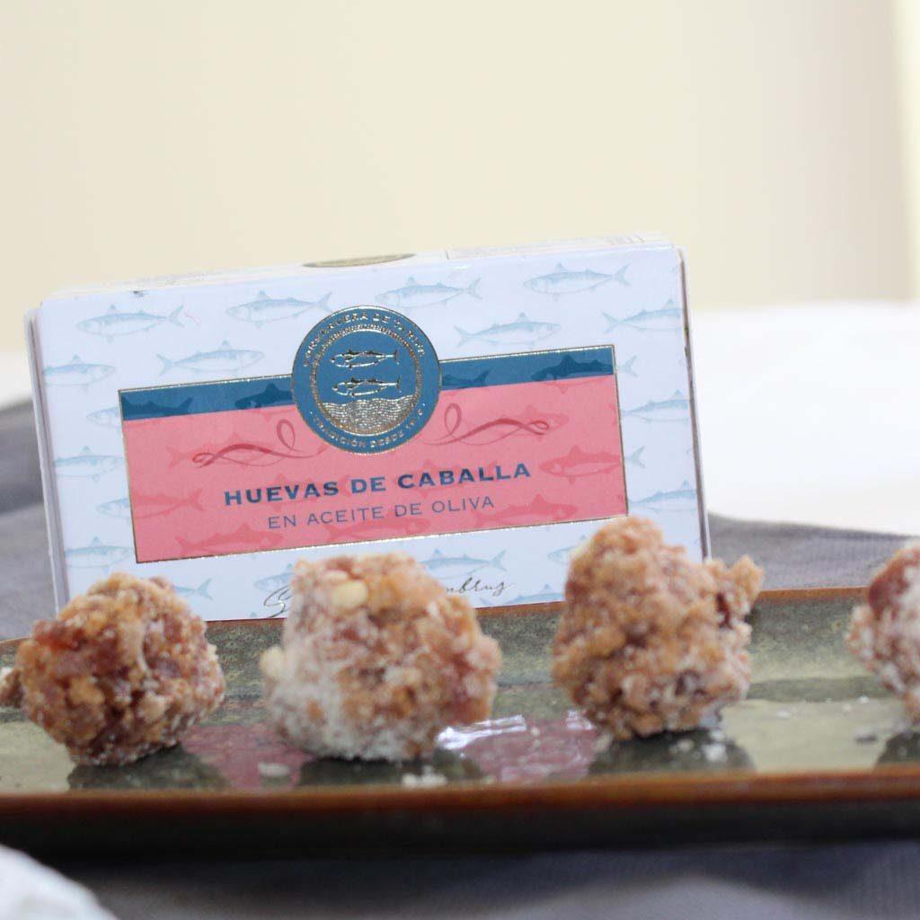 receta bombones de huevas de caballa en conserva
